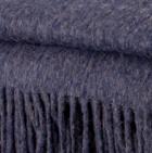 Denim Alpaca Solid Blanket