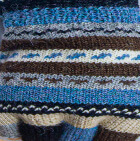 Multicolor 3 Cusco Alpaca Half Finger Gloves