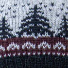 Lt. Grey-Dk. Mulberry-Black Scandinavian Winter Alpaca Hat - Fleece Lining
