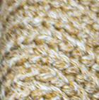 Braided Beige - Camel Stella Eco Alpaca Cotton Fingerless Short Gloves