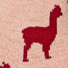 Baby pink- Red Alpaquita Unisex Socks