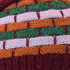 Burgundy Mlge.-Multicolor Justin Striped Alpaca Hat