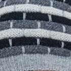 Lt. Grey-Multicolor Justin Striped Alpaca Hat