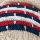Beige-Multicolor Justin Striped Alpaca Hat