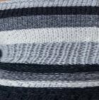 Lt. Grey-Multicolor Justin Striped Alpaca Fingerless Gloves
