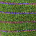 Green Mlge Brushed Striped Alpaca Fingerless Gloves