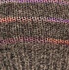 Taupe Grey Brushed Striped Alpaca Fingerless Gloves