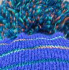Periwinkle Brushed Striped Beret Alpaca Hat