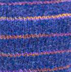 Prussian Blue Brushed Striped Alpaca Fingerless Gloves