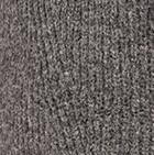 Charcoal V Neck Brushed Alpaca Sweater
