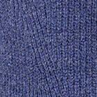 Prussian Blue V Neck Brushed Alpaca Sweater