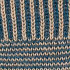 Saphire mlge / Hazelnut Hayley Baby Alpaca Fingerless Gloves