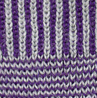 Purple / Lt grey Hayley Baby Alpaca Fingerless Gloves