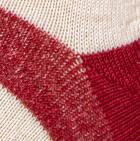 Red-Natural-Beige Unisex American Alpaca Socks
