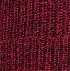 Burgundy Mlge. Women's Double Knit English Alpaca Hat