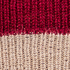 Burgundy-Beige Unisex Reversible knit English Alpaca Hat