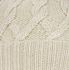 Natural Snake Cable Alpaca Hat