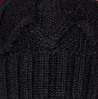 Black Snake Cable Alpaca Hat