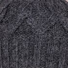 Charcoal Snake Cable Alpaca Hat