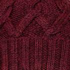 Burgundy Mlge. Snake Cable Alpaca Hat
