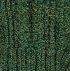 Green Mlge. Classic Cable Alpaca Gloves