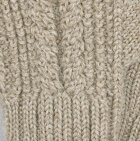 Almond Mlge. Classic Cable Alpaca Gloves