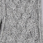 Lt.Grey Snake Cable Alpaca Gloves