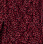 Burgundy Mlge. Snake Cable Alpaca Gloves