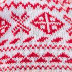 Natural-Red Winter Alpaca Knit Hat - Fleece Lining