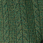 Green Mlge. Classic Cable Alpaca Scarf