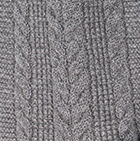 Grey Mlge. Classic Cable Alpaca Scarf