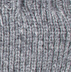 Grey mlge Men's Alpaca Half Finger Gloves