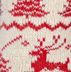 Natural-Red Alpaca Reindeer Unisex Socks