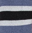 Black-Denim-Silver Grey Multi Striped Simply Alpaca Socks