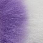 "Purple-White Baby Alpaca Fur - Owl Ornament 9"""