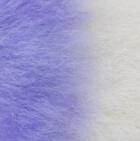 "Periwinkle-White Baby Alpaca Fur - Owl Ornament 9"""