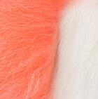 "Melon-White Baby Alpaca Fur - Owl Ornament 9"""