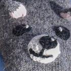 Grey Alpaca Kids - Bear Alpaca Mittens