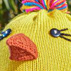 Yellow Alpaca Kids - Chicken Alpaca Hat with Ear Flaps