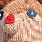 Camel-Beige Alpaca Kids - Deer Alpaca Hat with Ear Flaps