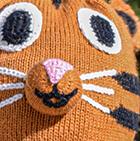 Eggfruit Alpaca Kids - Tiger Alpaca Hat with Ear Flaps