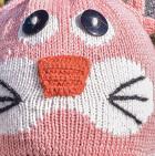 Pink Jade Alpaca Kids - Pink Cat Alpaca Hat with Ear Flaps