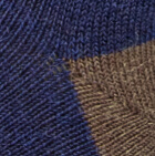 Navy-Cinnamon Unisex Cute Alpaca Socks