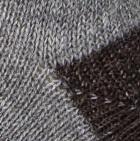 Grey Heath-Brown Alpaca Print Unisex Crew Socks