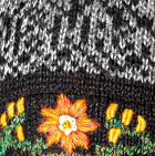 Lt. Grey Alpaca Embroidered Leaf Hat - Fleece Lining