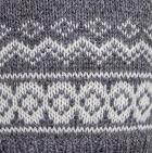 Grey Arctic Alpaca Hat - Fleece Lining