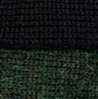 Black - Dk Green mlge Reversible Alpaca Gloves Heavy Weight