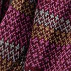 Burgundy Mlge. Garnet Baby Alpaca Infinity Scarf
