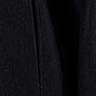 Black Royal Alpaca Poncho Cape With Pockets