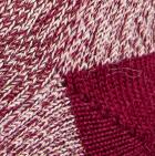 Burgundy Alpaca Boot Unisex Socks